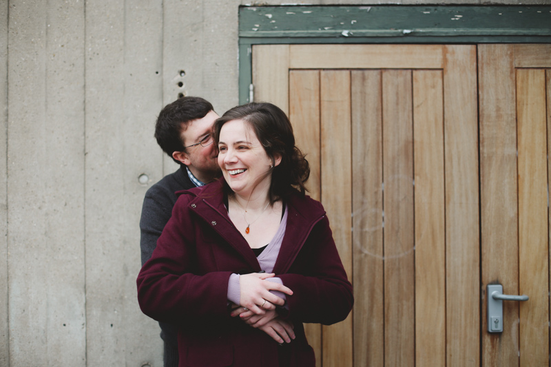 Southbank winter engagement shoot