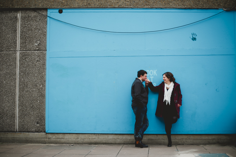 informal and fun Southbank winter engagement shoot in London by love oh love photography