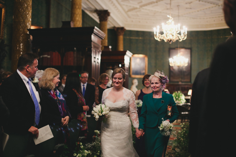 Mother and bride down the aisle by Love oh love photography