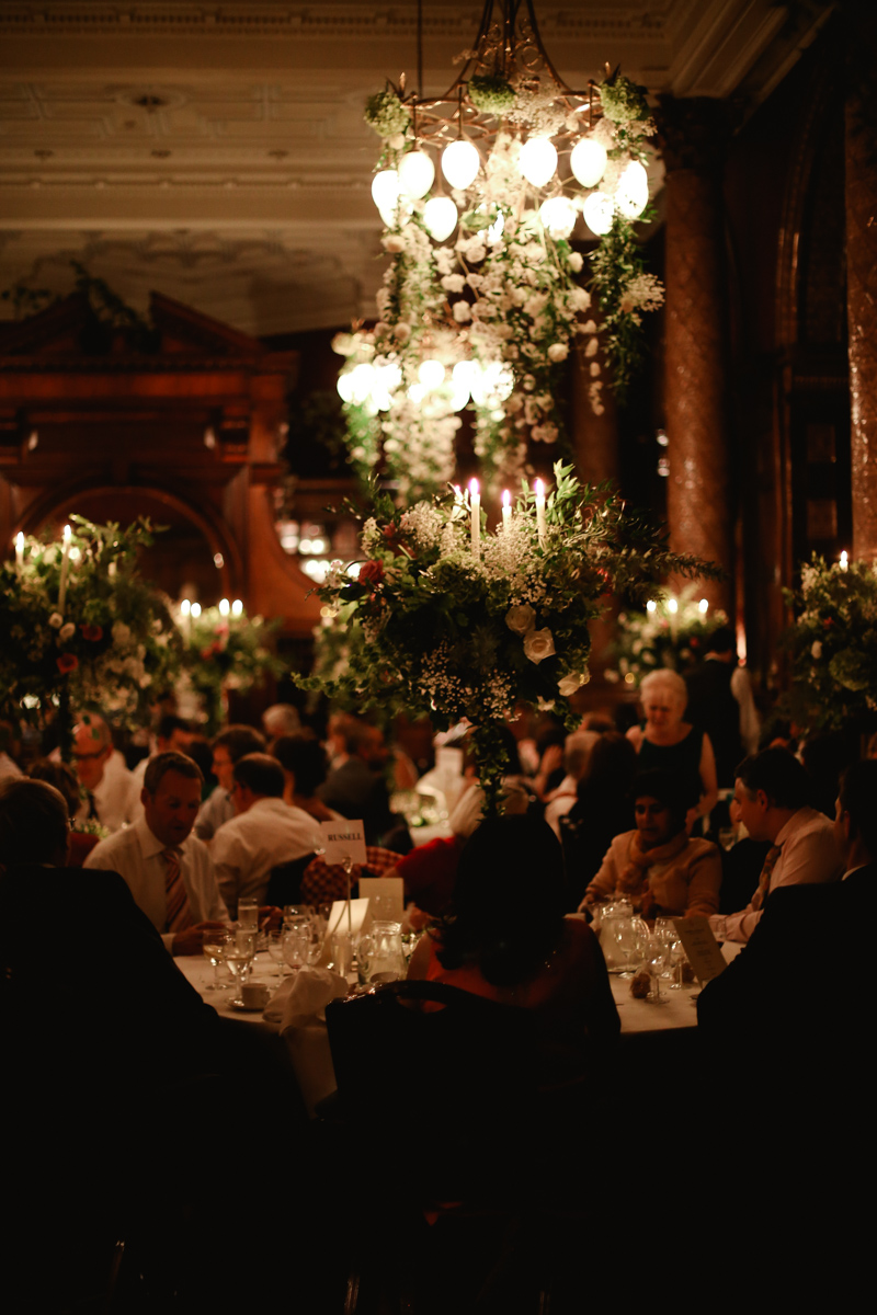 wedding guests at the national liberal club London by Love oh love photography