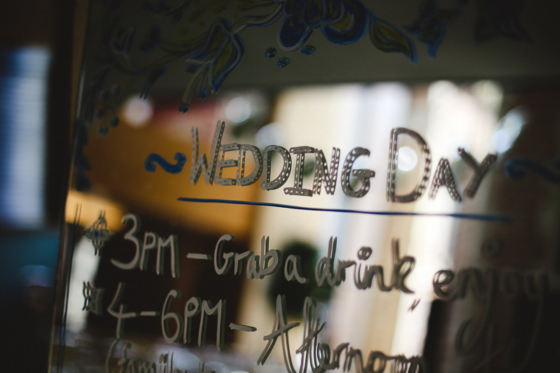 wedding signage by Love oh Love photography