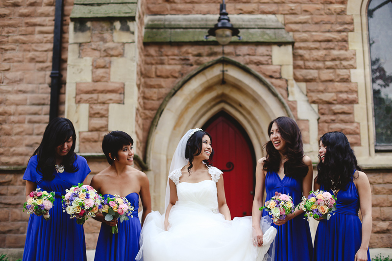 bride with bridesmaids by Love oh Love photography