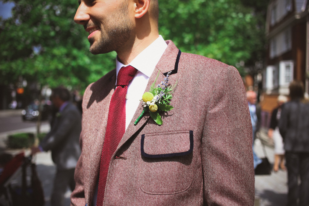 dapper suit at Islington Town Hall civil ceremony by love oh love photography