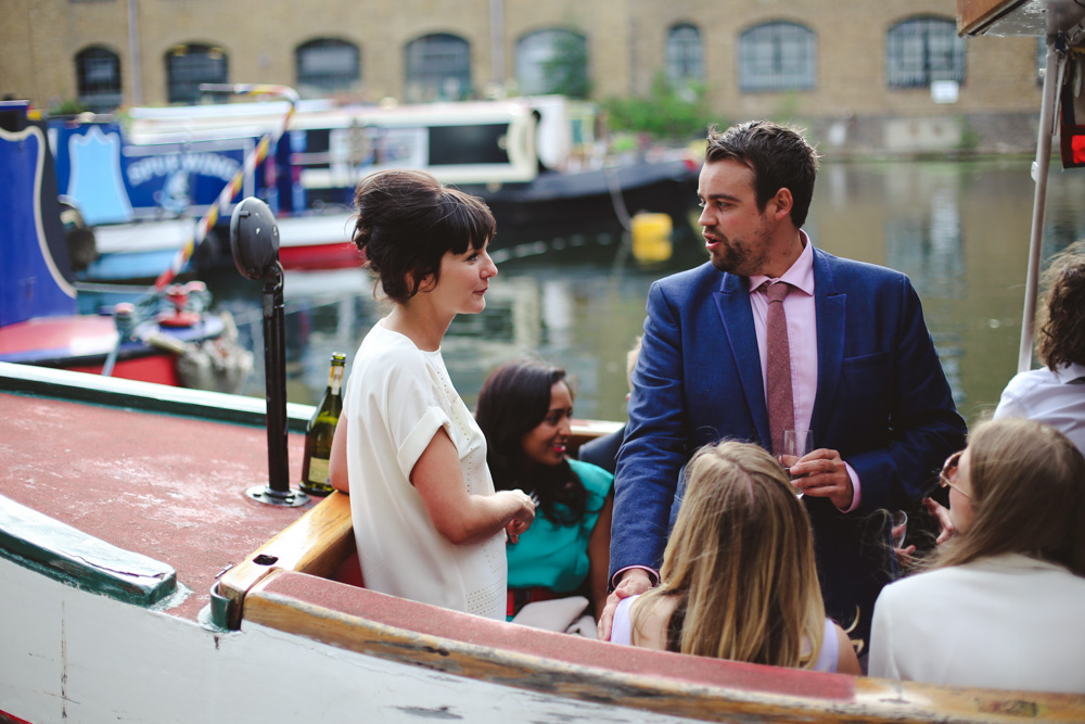 bride on a boat London wedding by love oh love photography