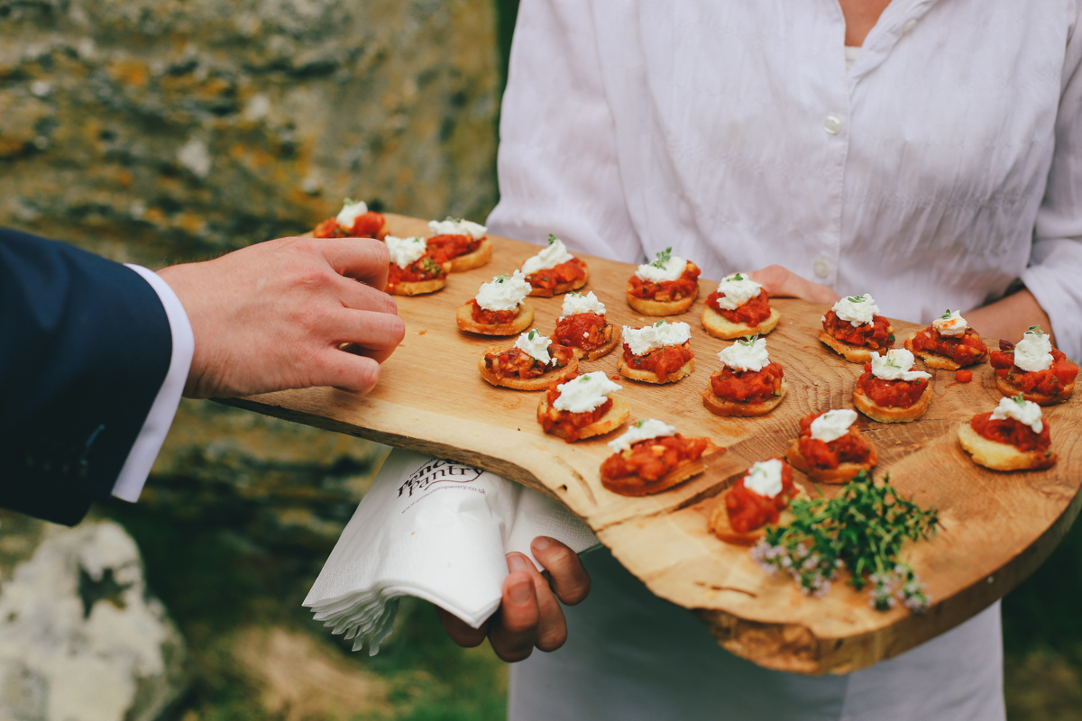 Outdoor wedding ceremony at Prussia Cove, Cornwall wedding by Love Oh Love Photographyy