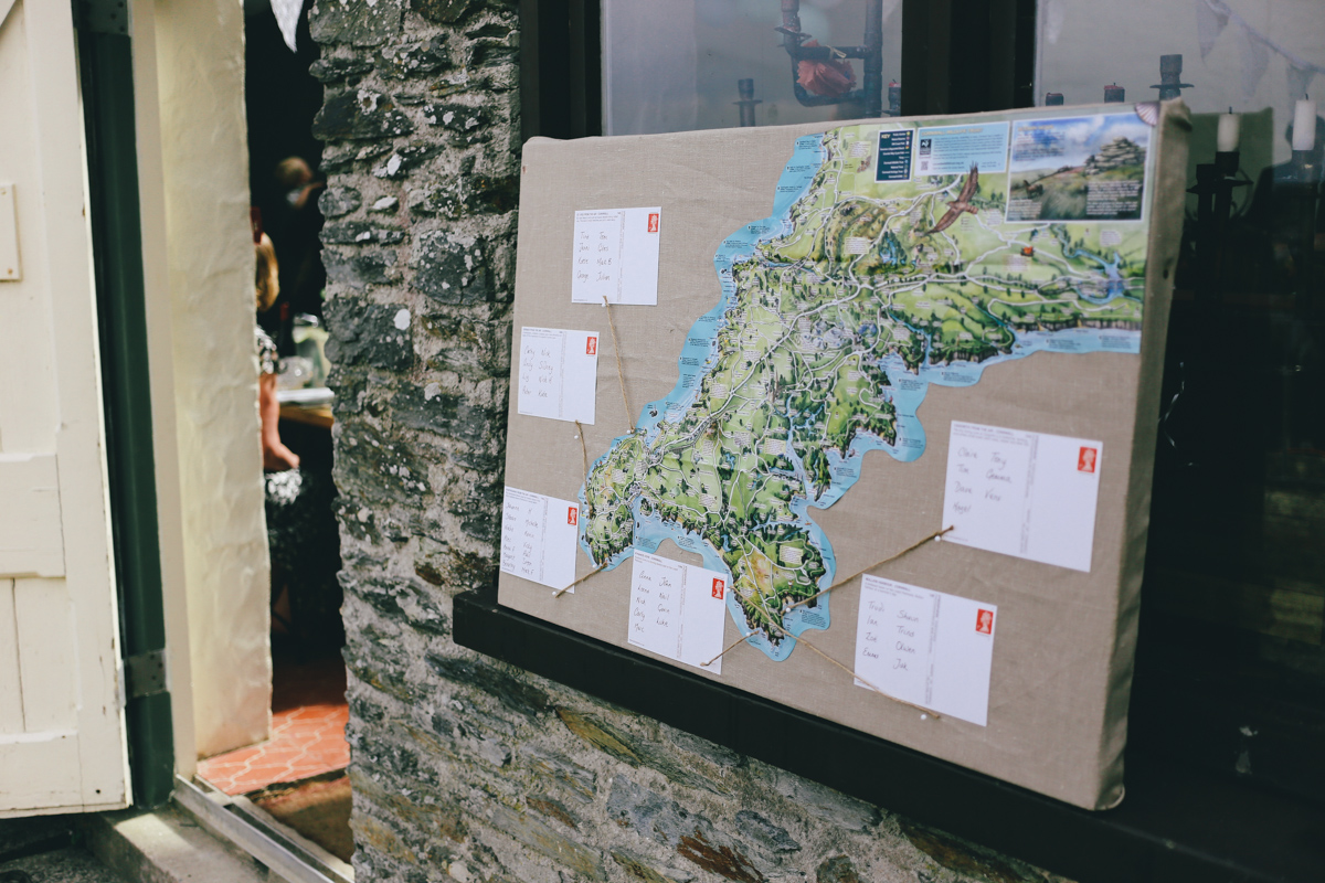 Ideas for wedding seating plan at Prussia Cove, Cornwall by Love Oh Love Photography