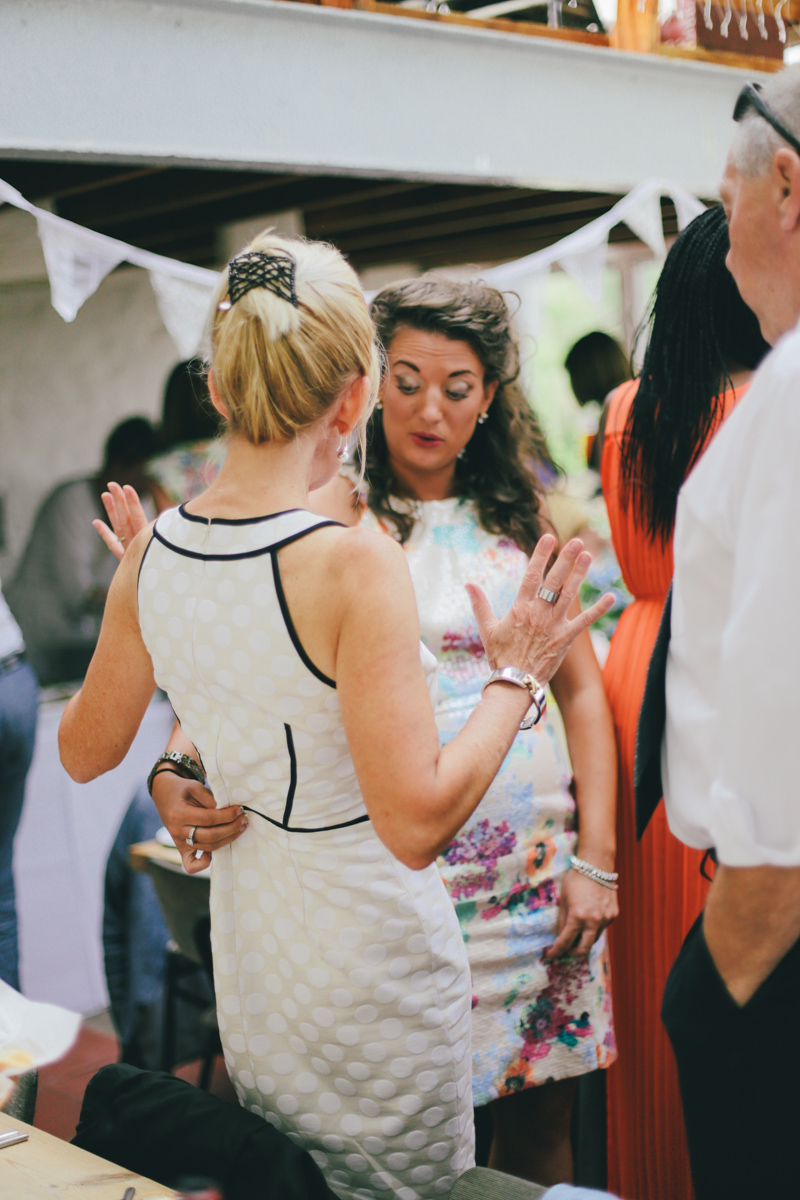 Guests at Prussia Cove, Cornwall wedding by Love Oh Love Photography