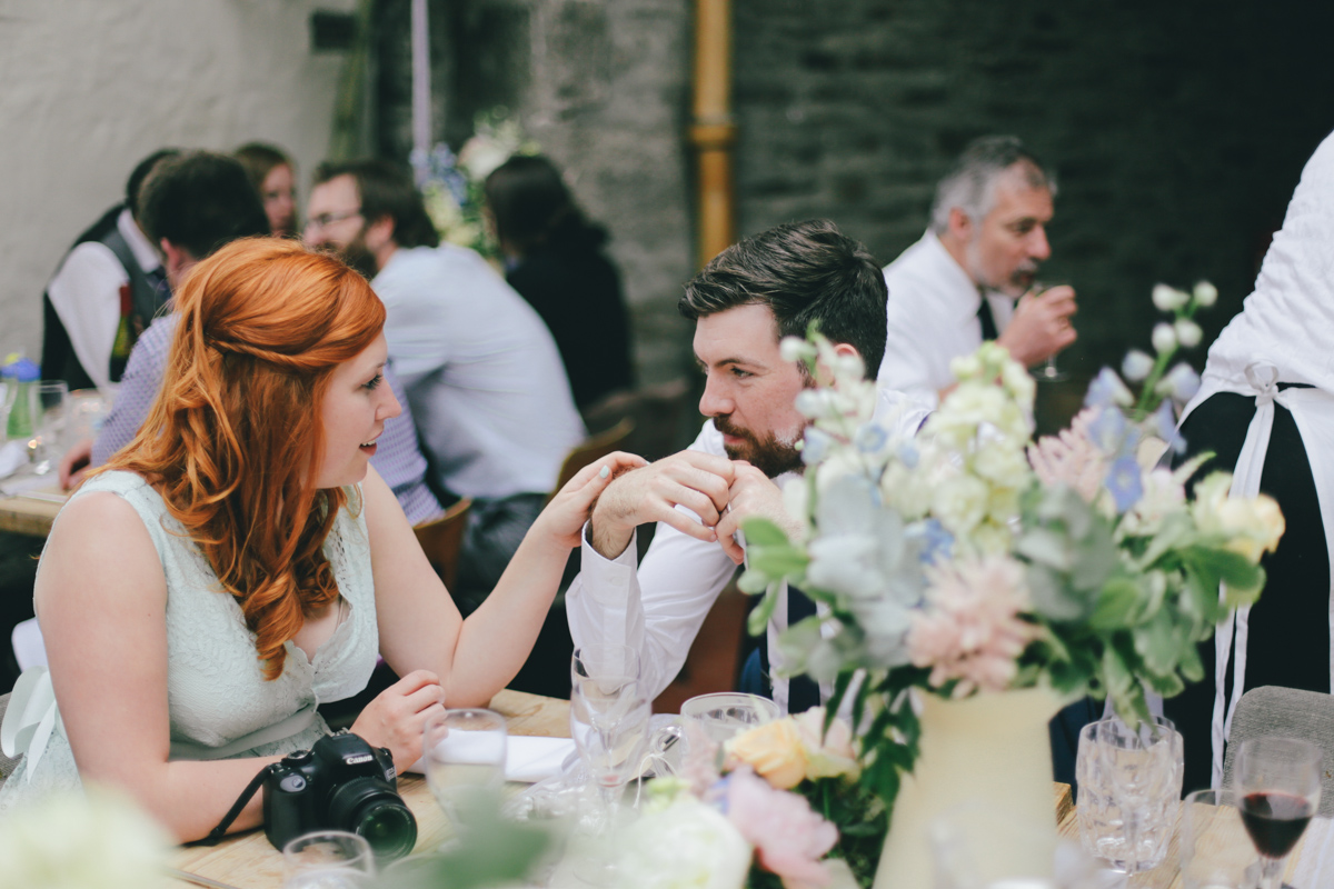 Candid shot at Prussia Cove, Cornwall Wedding by Love Oh Love Photography