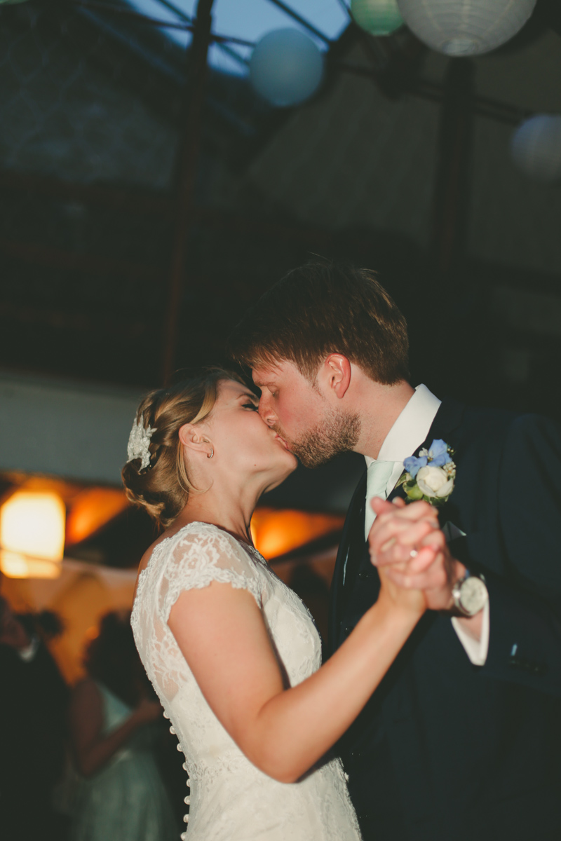 First dance as bride and groom at Prussia Cove, Cornwall wedding by Love Oh Love Photography