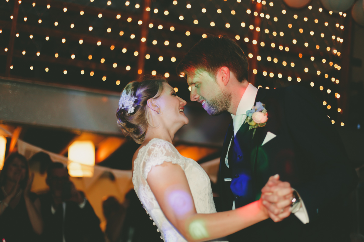 First dance at Prussia Cove, Cornwall wedding by Love Oh Love Photography